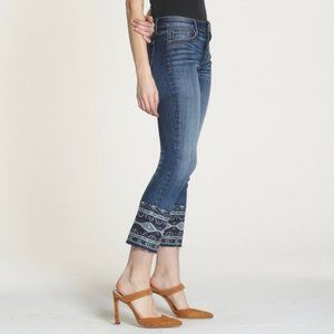 Driftwood Colette Embroidered Beaded Cropped Jeans